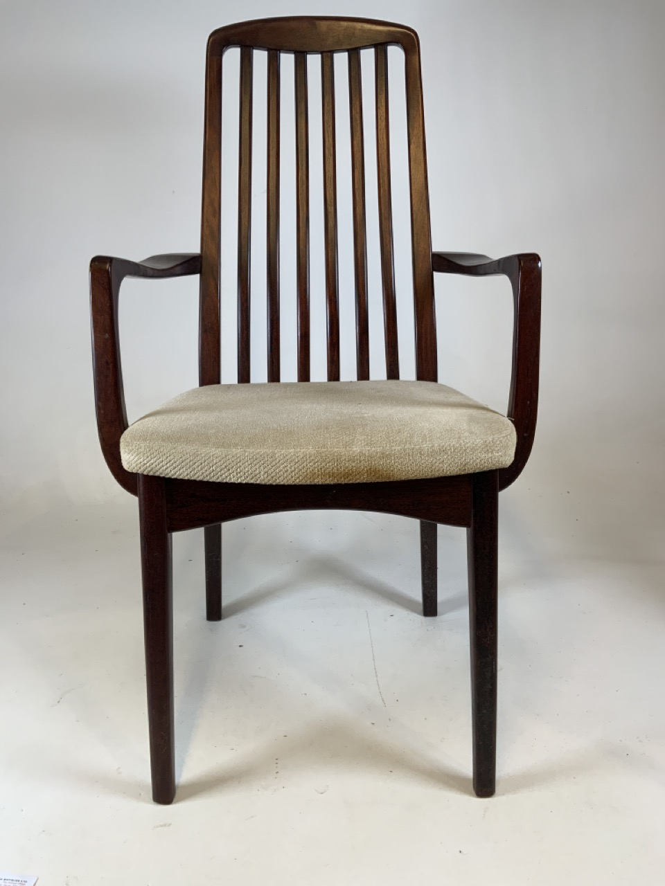 A set of six mid century rosewood Scandinavian dining chairs by Svegards Markaryd. To include two - Image 3 of 6