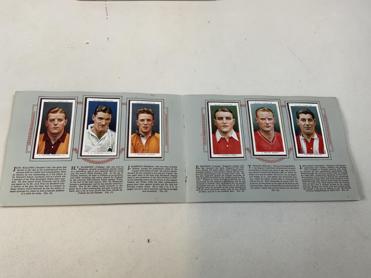 Nine cigarette card albums including Association footballers 1935-1936, Radio celebrities, An - Image 3 of 5