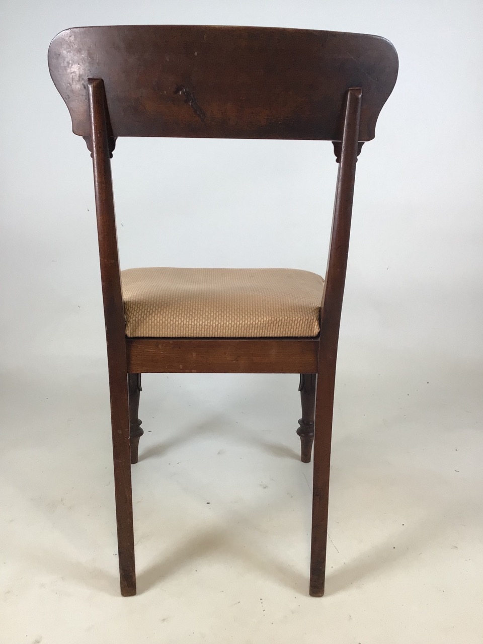 A set of Six William IV dining chairs. Seat height H:48cm - Image 4 of 7