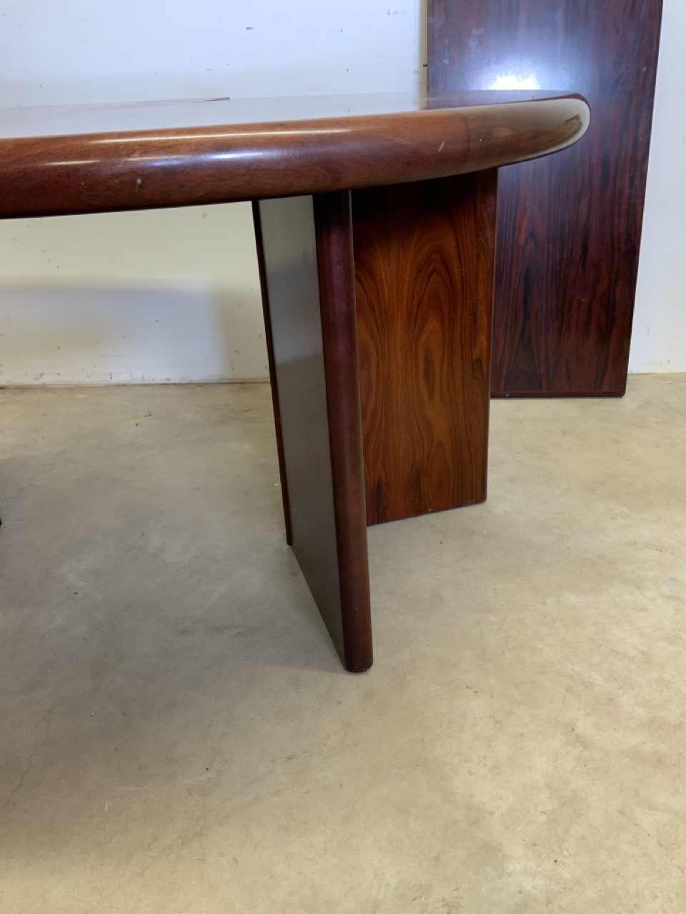 A mid century rosewood Scandinavian extendable table by Svegards Markaryd W:170cm x D:120cm x H:73cm - Image 4 of 8