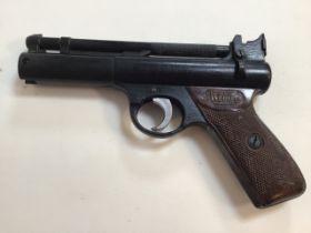 A Webley Senior air pistol. Webley and Scott ltd Birmingham. W:22cm x H:14cm
