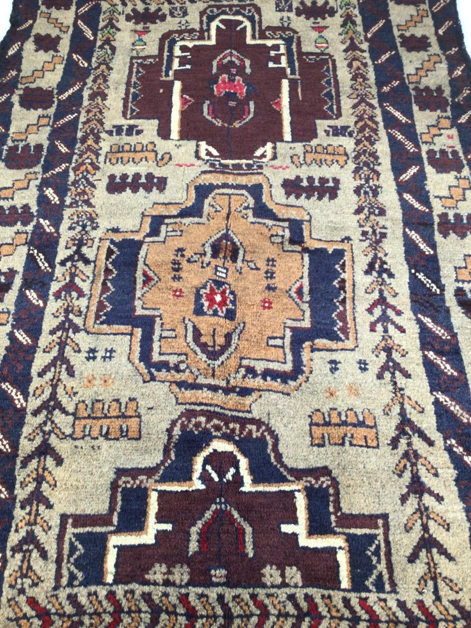 A old Baluchi rug. W:83cm x H:138cm - Image 3 of 3