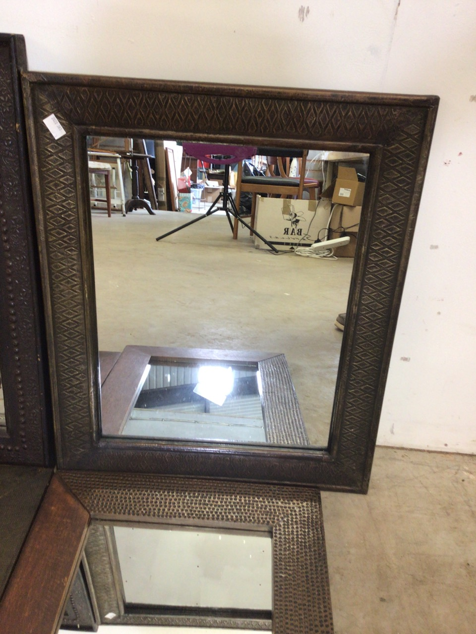 Six modern mirrors including an oval bevelled mirror. W:40cm x H:50cm - Image 4 of 5