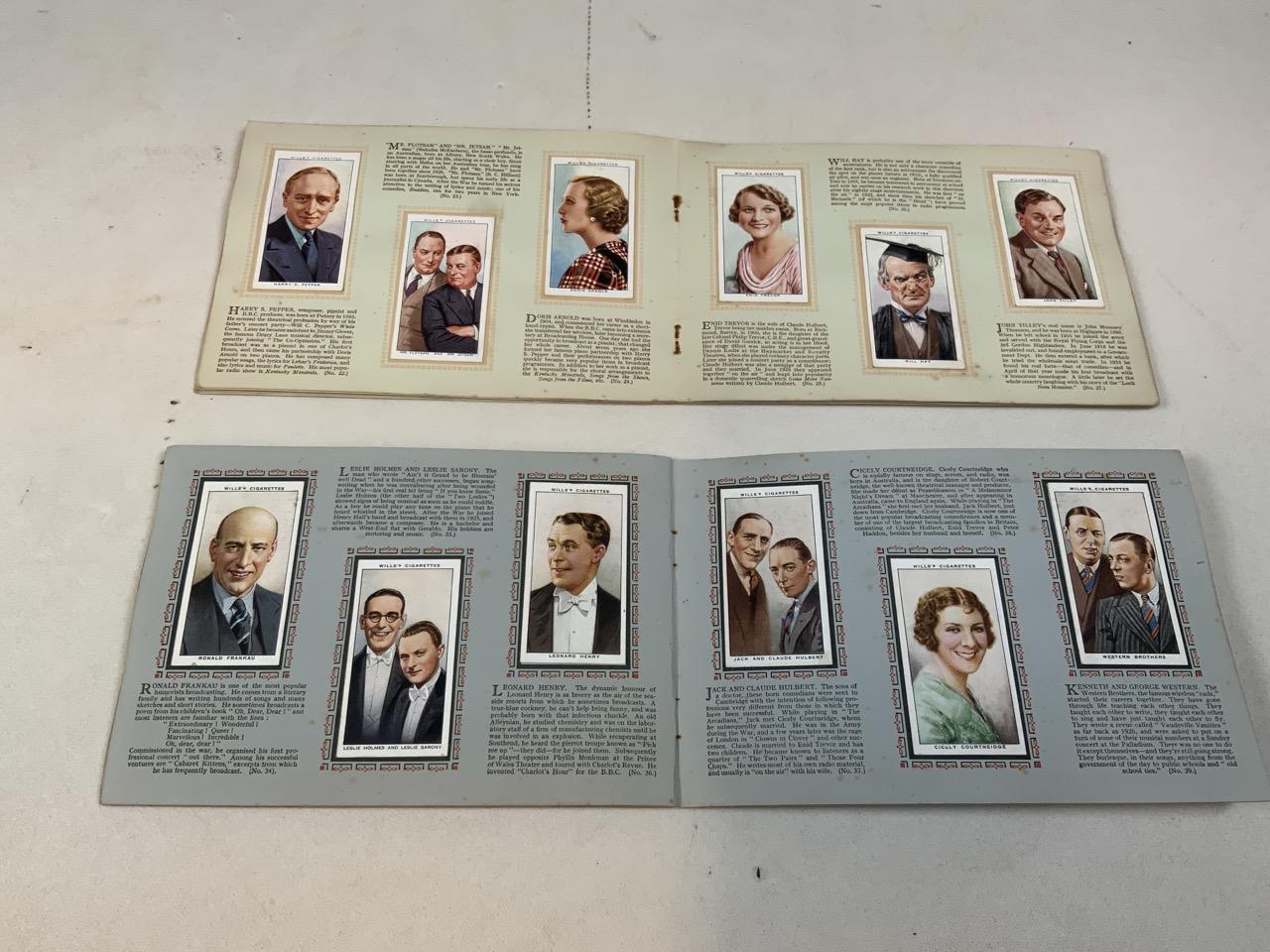 Nine cigarette card albums including Association footballers 1935-1936, Radio celebrities, An - Image 5 of 5