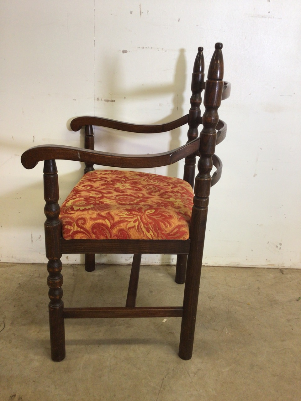 A set of eight mid century dining chairs by Younger. Seat height H:48cm - Image 4 of 6