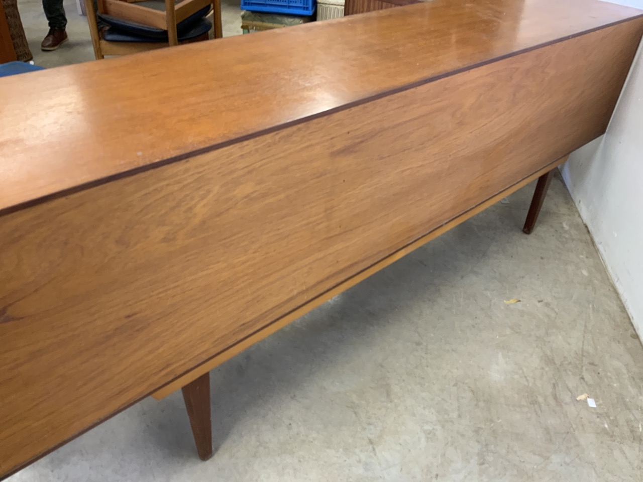 A mid century C.1960s teak sideboard by John Herbert for A Younger. Double cupboard doors to - Image 10 of 10