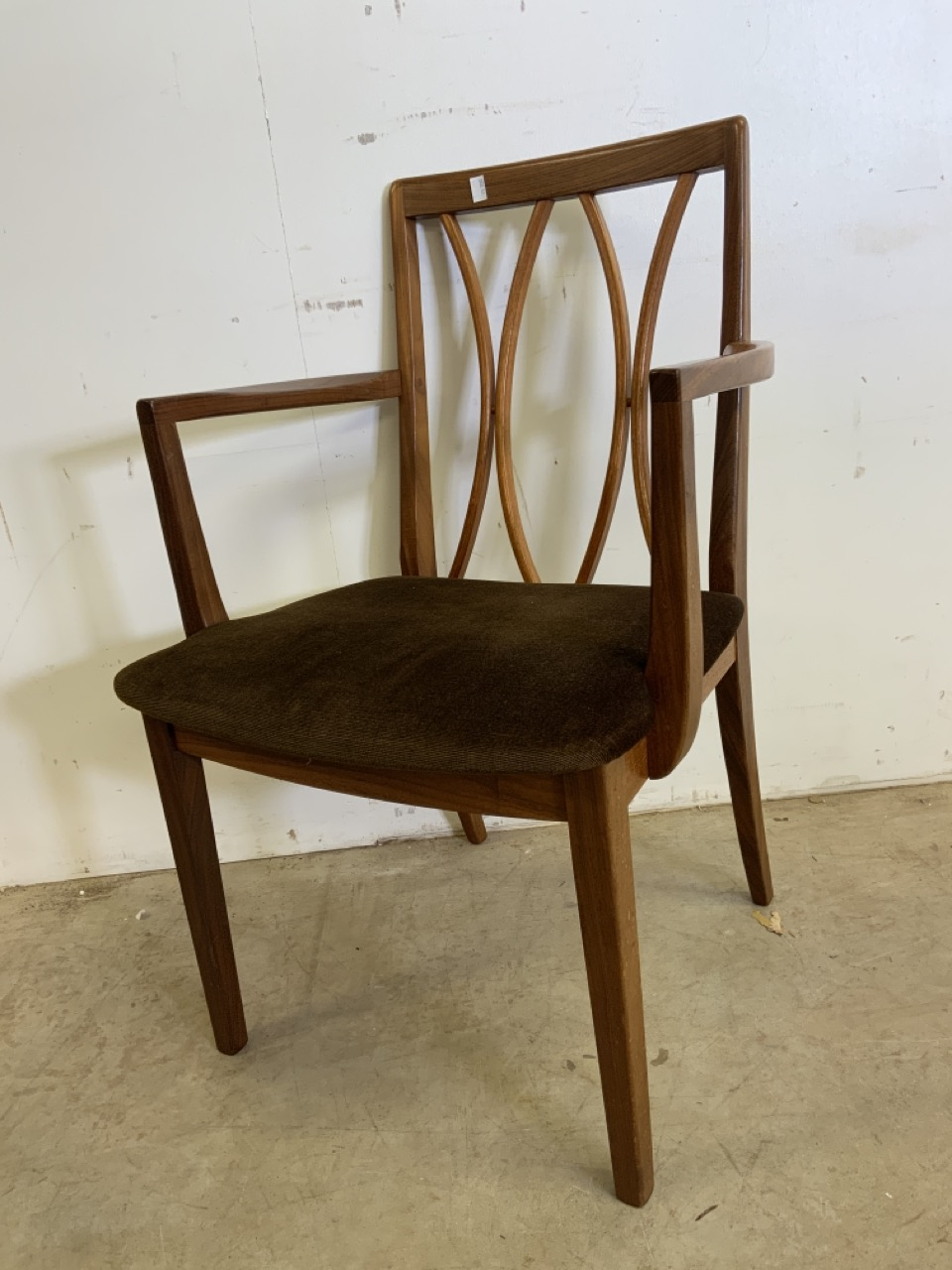 A set of six Fresco G Plan E Gomme limited teak and rosewood chairs to include two carvers. With - Image 2 of 7