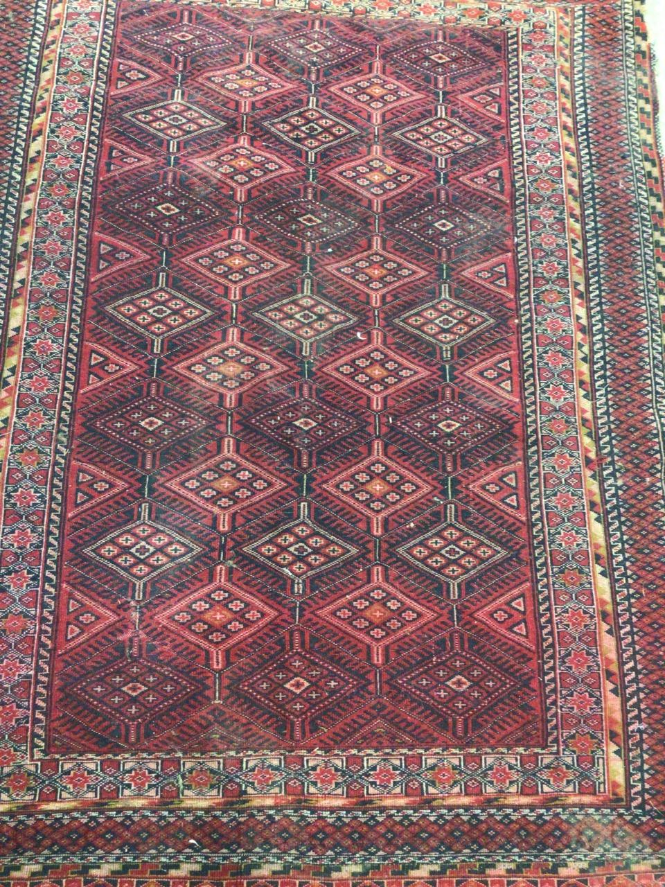 A Tekke Turkoman rug. W:190cm x H:140cm - Image 3 of 4