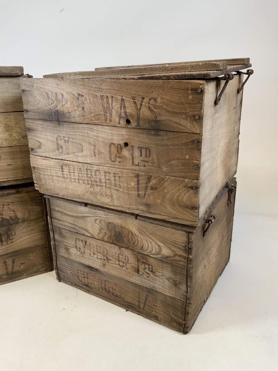 Four Whiteways Cyder Co ltd Cider boxes. From Whiteways, Hele, Exeter. W:32cm x D:39cm x H:28cm - Image 3 of 5