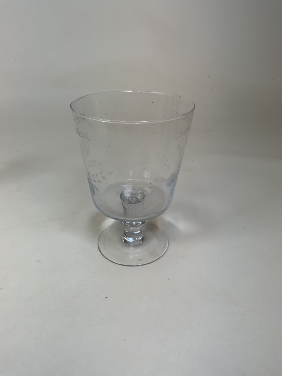 A pair of moulded glass decanters Height 27cm together with a ships decanter 20cm height, a green - Image 5 of 6