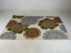 A Kashmiri hand stitched wool chain rug. W:74cm x H:116cm