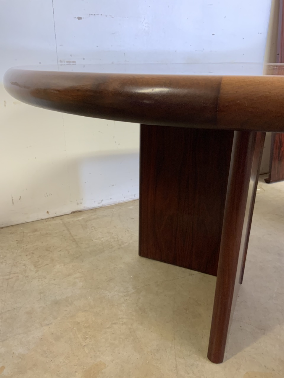 A mid century rosewood Scandinavian extendable table by Svegards Markaryd W:170cm x D:120cm x H:73cm - Image 5 of 8