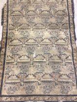 A flat weave rug with black border. W:185cm x H:125cm