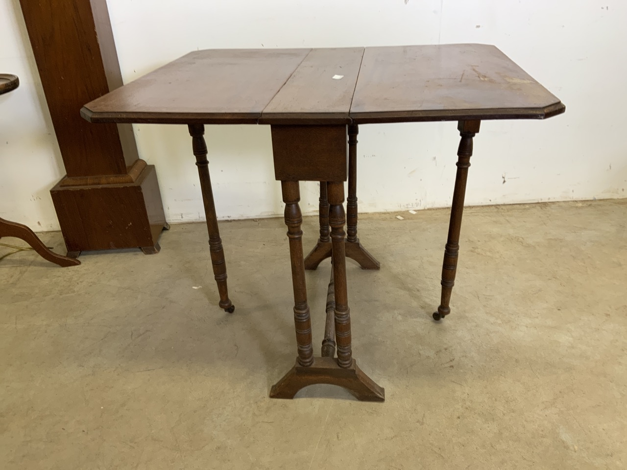 Two standard lamps also with a Sutherland table and other 20th century furniture including - Image 6 of 6