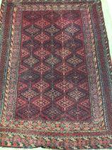 A Tekke Turkoman rug. W:190cm x H:140cm