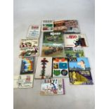A collection of comic strip and illustrated book titles to include Walk Kellys Pogo Revisited, We