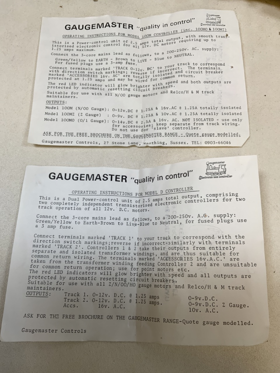 Three Gauge Master controllers for model railways and a Clipper power control unit by Hammat and - Image 2 of 2