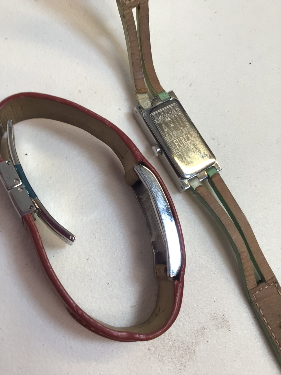 Two ladies watches, Opex and Furla with leather strap. - Image 4 of 4