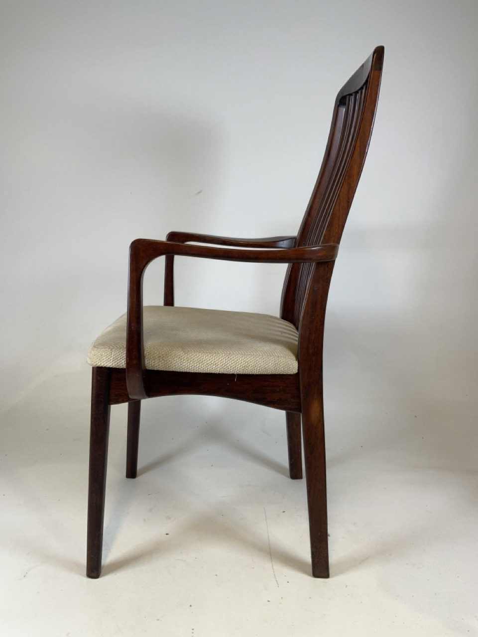 A set of six mid century rosewood Scandinavian dining chairs by Svegards Markaryd. To include two - Image 5 of 6
