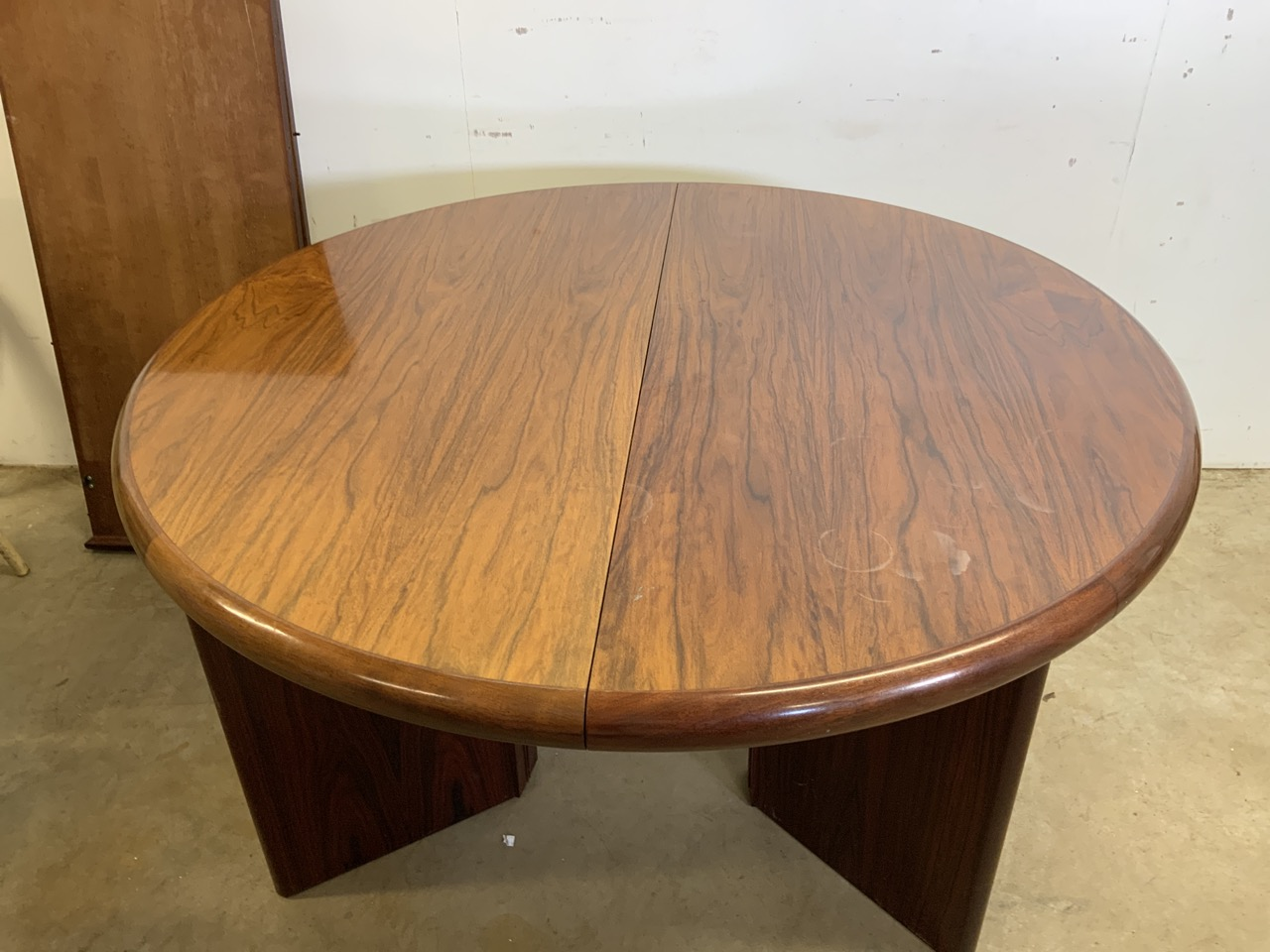 A mid century rosewood Scandinavian extendable table by Svegards Markaryd W:170cm x D:120cm x H:73cm - Image 8 of 8