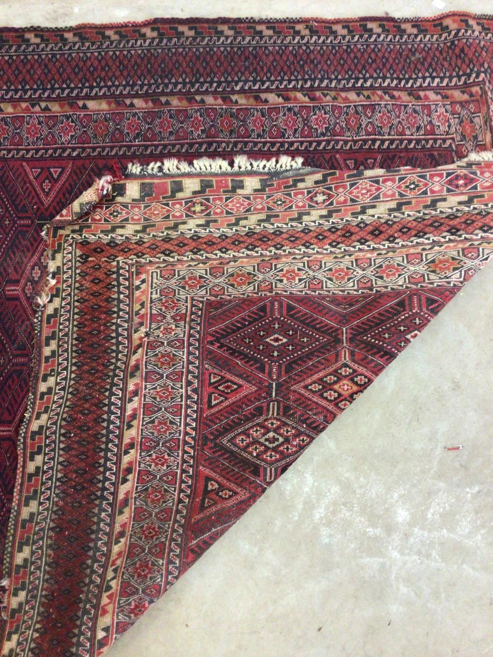 A Tekke Turkoman rug. W:190cm x H:140cm - Image 4 of 4