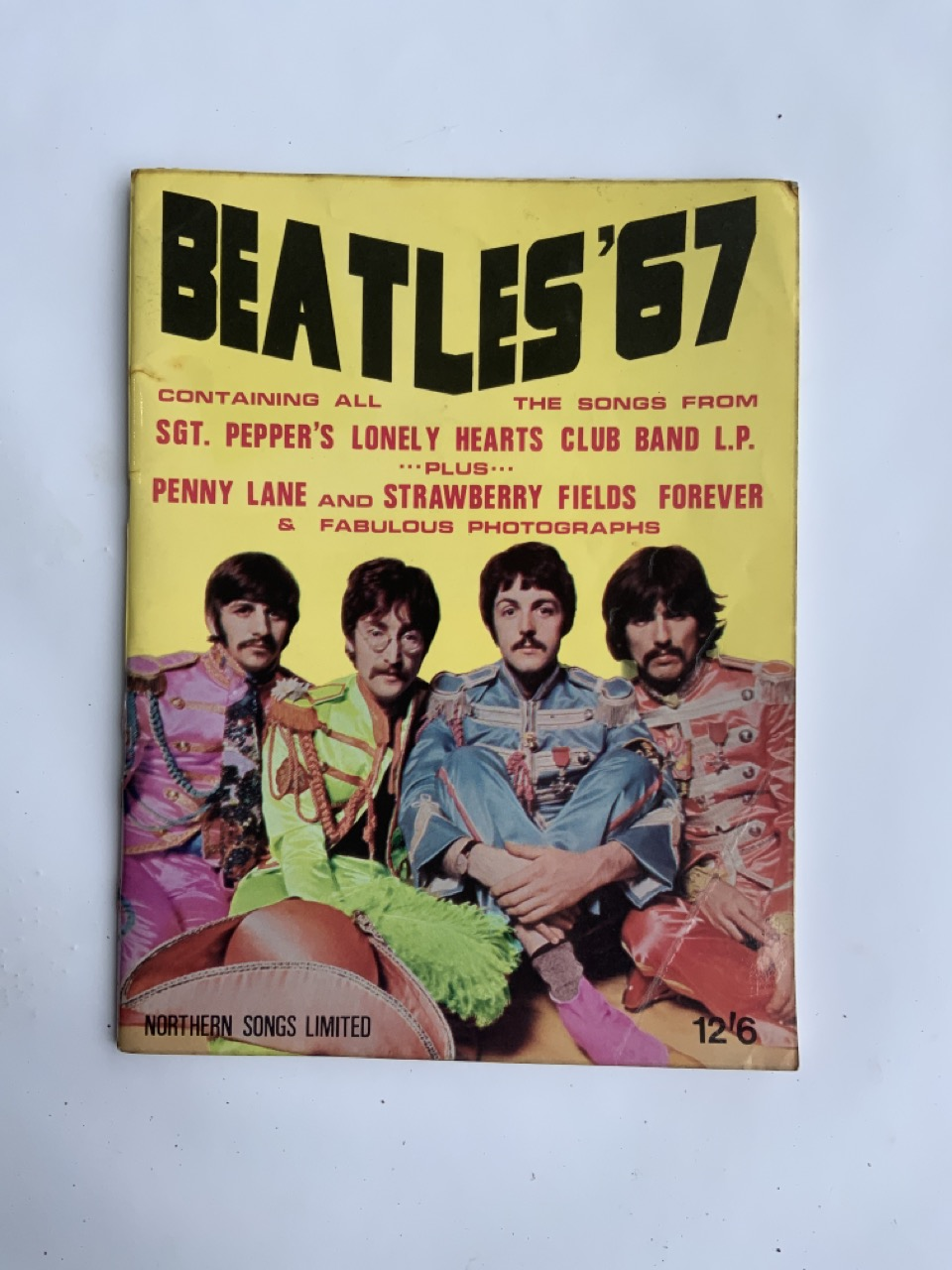 The Beatles 1967 song book contains all songs from SGT. Pepper Lonely Heart Club Band plus - Image 2 of 8