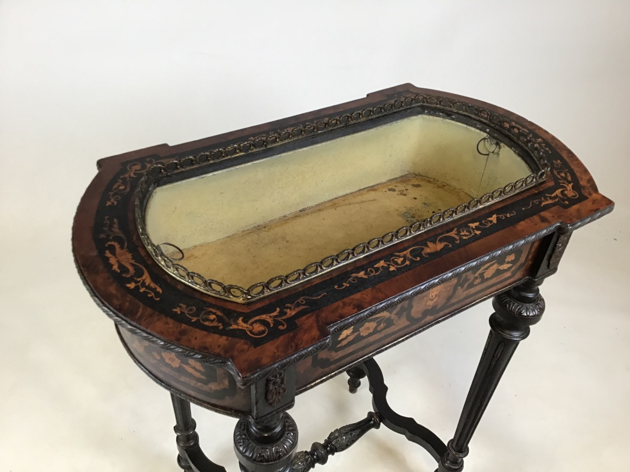 A 19th Century Dutch marquetry inlaid mahogany side table with tin lined lidded top possibly - Image 3 of 8