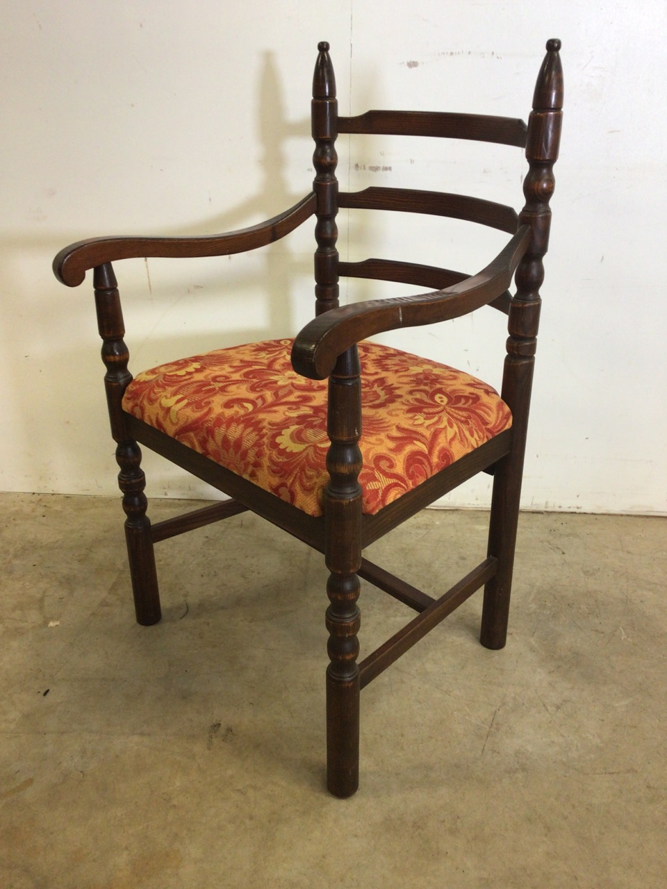 A set of eight mid century dining chairs by Younger. Seat height H:48cm - Image 3 of 6