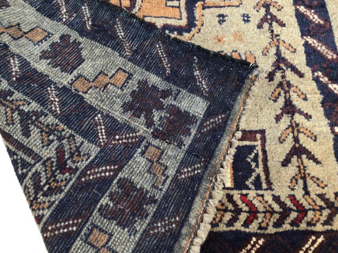 A old Baluchi rug. W:83cm x H:138cm - Image 2 of 3