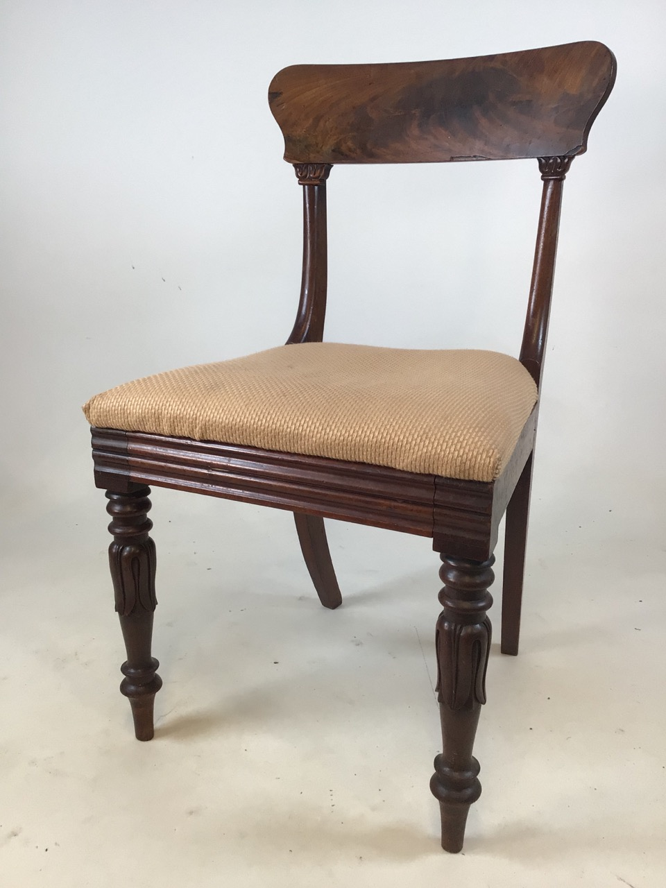 A set of Six William IV dining chairs. Seat height H:48cm - Image 2 of 7