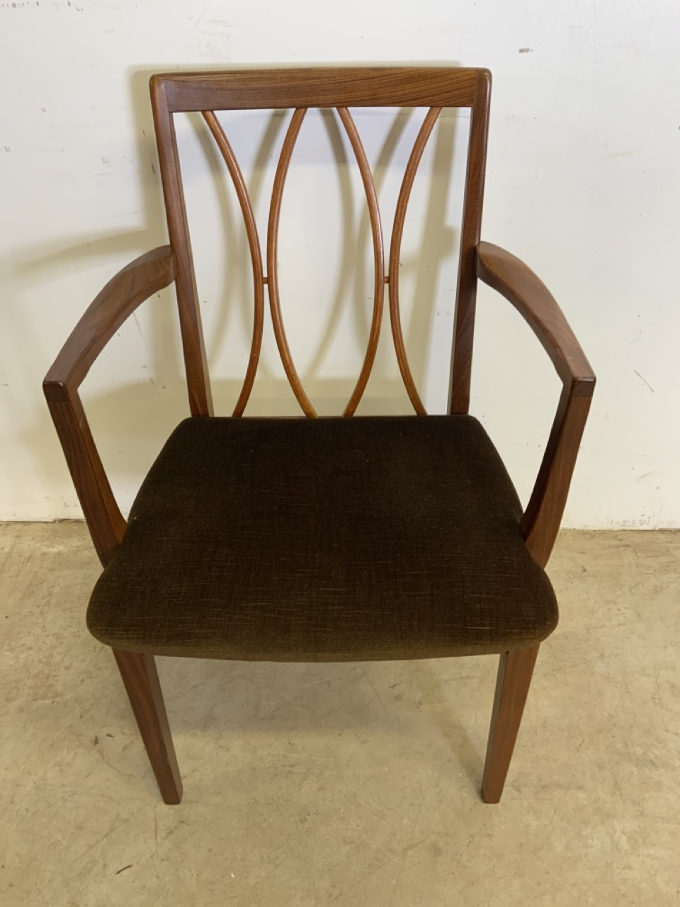 A set of six Fresco G Plan E Gomme limited teak and rosewood chairs to include two carvers. With - Image 6 of 7
