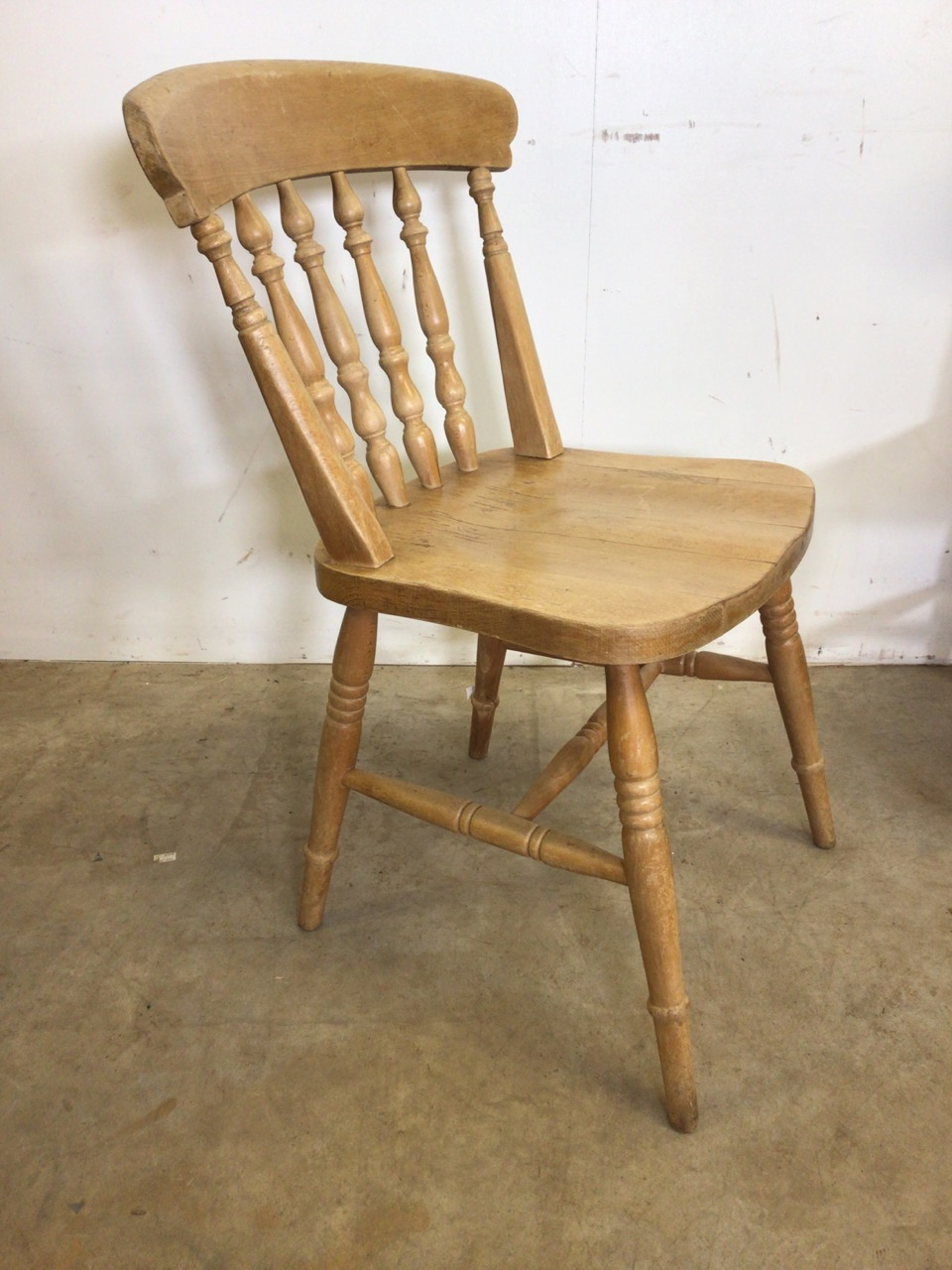 A pair of hardwood kitchen chairs and another. W:44cm x D:43cm x H:84cm - Image 3 of 4