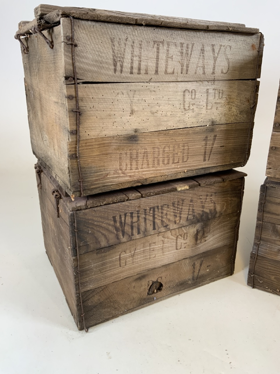 Four Whiteways Cyder Co ltd Cider boxes. From Whiteways, Hele, Exeter. W:32cm x D:39cm x H:28cm - Image 2 of 5