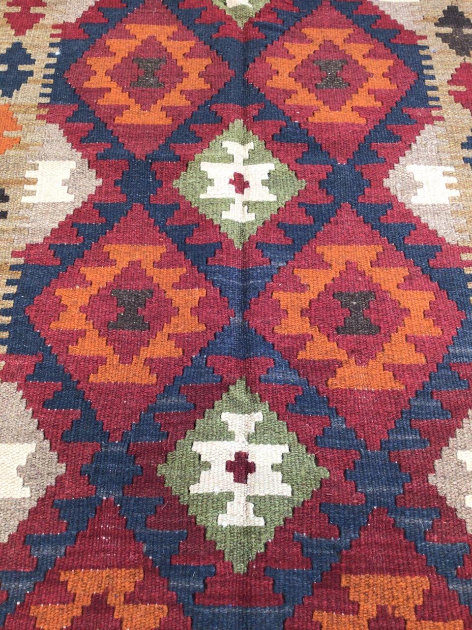A Maimana Kilim rug. W:78cm x H:132cm - Image 3 of 4