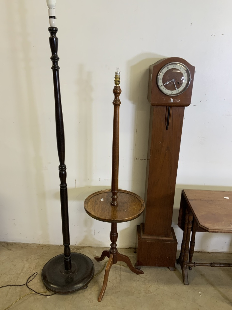Two standard lamps also with a Sutherland table and other 20th century furniture including - Image 2 of 6