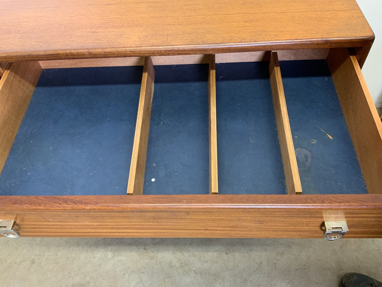 A mid century C.1960s teak sideboard by John Herbert for A Younger. Double cupboard doors to - Image 4 of 10