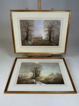 Derek G Philips two watercolours of country subjects signed lower left in pen in modern quality