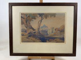 Edward Bouverie Hoyton (1900 1988) signed, The little shrine, watercolour on Whatman paper. The fine