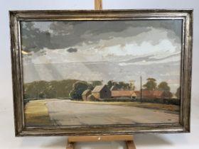 EDWARD LOXTON KNIGHT RBA (British, 1905-1993) signed, tempera painting. Entitled the grass roads,
