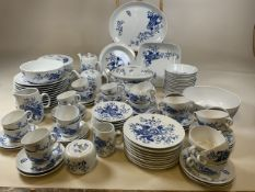 A Royal Worcester blue and white Dinner service in Rhapsody design. Including eleven dinner