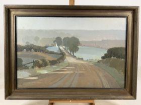 EDWARD LOXTON KNIGHT RBA (British, 1905-1993) signed, tempera painting. Towards Nottingham. The