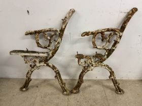 Coalbrookdale style bench ends. N.B these are not a pair. H:80cm