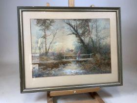 Stephen J Bowers (British) 19th century watercolour on paper. W:49cm x H:35cm