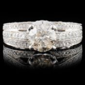 18K White Gold 2.65ctw Diamond Ring