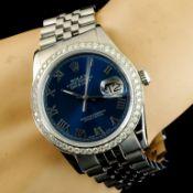 Rolex DateJust 1.35ct Diamond 36MM Wristwatch