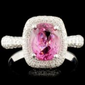 18K Gold 2.11ct Spinel & 0.95ctw Diamond Ring