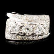 14K Gold 1.18ctw Diamond Ring