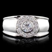 14K White Gold 0.68ctw Diamond Ring