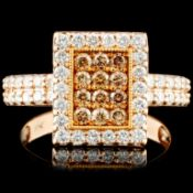 14K Gold 0.98ctw Fancy Color Diamond Ring