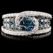 14K Gold 1.95ctw Fancy Diamond Ring